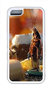 iPhone 5C Case, iPhone 5C Cases - April Fools Day Cockroaches Bread Kitchen Polycarbonate Hard Case Back Cover for iPhone 5CšC White