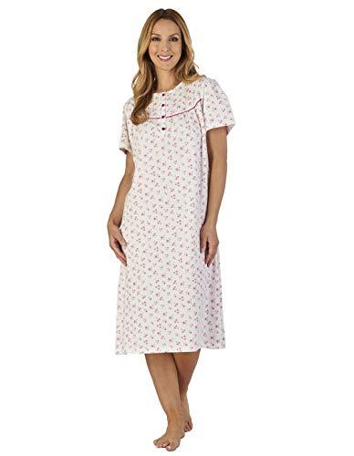 ND2110 Ground Jersey Nightdress Pink Gown Floral Loungewear Night Slenderella Women's fqgxC4dfw