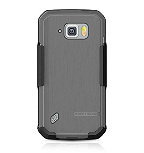 Body Glove Satin Case with Holster for Samsung Galaxy [S6 Active] - Retail Packaging - Black (Case Body)