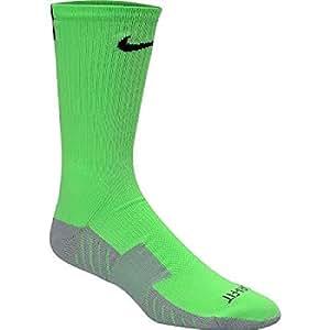 Nike Mens' Stadium Soccer Crew Socks, Medium, Green/Black