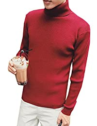 CFD Men's Classic Slim Fit Turtleneck Pullover Thermal Sweaters