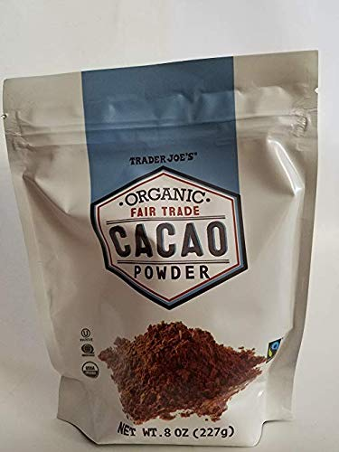 Trader Joes Organic Fair Trade Cacao Powder 8 oz (Pack of 3)