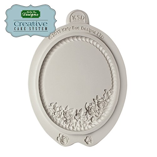 Petite Fleur Oval plaque Silicone Mold -