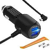 Car Charger for Garmin GPS Nuvi, Plozoe Car Garmin Nuvi Mini USB Power Cord Cable Vehicle Charging Adapter for Garmin Navigation 50LMT,51LMT,55LMT,58LMT,65LMT,67LMT,2557LMT,2555LMT,2597LMT