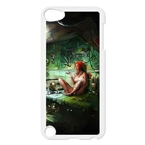 R9R16 pintura habitación oscura A4I9SV funda iPod Touch 5 funda la cubierta del caso DH4GMP1MQ blanco