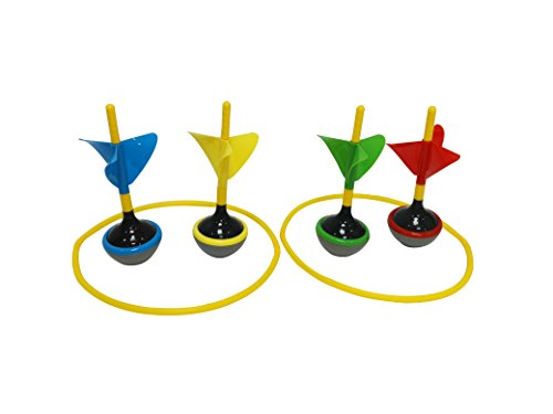 Heemika 4 Pcs Lawn Dart Game Set,Garden Outdoor Family Fun Dart Toss (Lawn Darts)