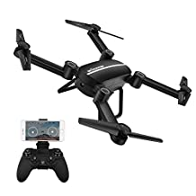 WONDAY X8tw Drone RC Quadcopter Altitude Hold Headless RTF 3D 360 Degree FPV VIDEO WIFI 720P HD Camera 6 axis 4CH 2.4Ghz Height Hold Easy Fly Steady for learning. (Black)