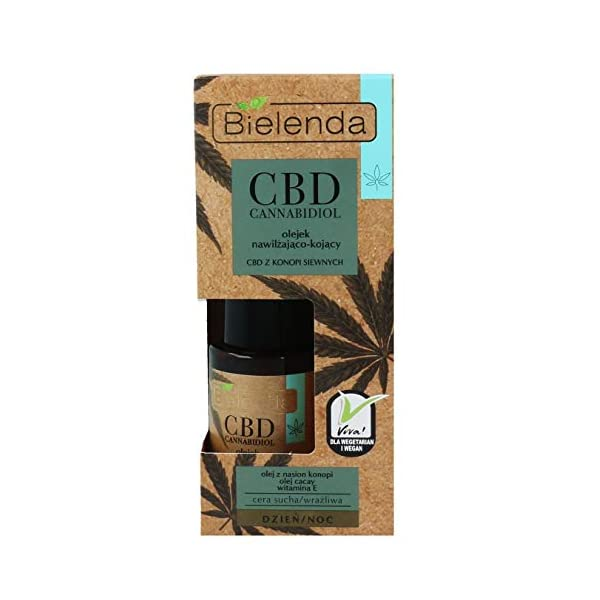 Bielenda HEMP Moisturising Soothing Face Oil Dry Sensitive Skin Day/Night 15ml