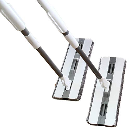 PICAD Microfiber Flat Mop Multi Slots Switch for Cleaning Hardwood and Floors, Includes: 1 Mop, 1 Dirt Removal Scrubber, 2 Pads Refills by PICAD (Image #6)
