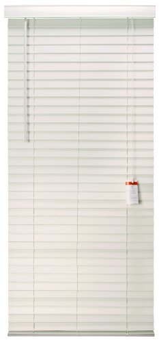 Designer's Touch 883628 Faux Wood 2-Inch Plantation Style Miniblind, 31 by 72-Inch, White Finish by Designer's Touch