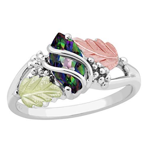 Landstroms Ladies Black Hills Silver Mystic Fire Topaz Ring - MRL02874-471 ()