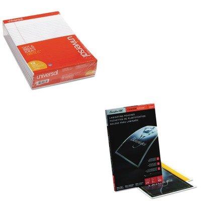 KITSWI3200720UNV20630 - Value Kit - Swingline Fusion EZUse Premium Laminating Pouches (SWI3200720) and Universal Perforated Edge Writing Pad (UNV20630) by Swingline