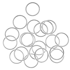 Beadaholique 20-Piece Closed Jump Rings, 10mm, 18-Gauge, Silver