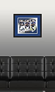 "NFL Indianapolis Colts Johnny Unitas, Peyton Manning, & Andrew Luck, Beautifully Framed and Double Matted, 18"" x 22"" Sports Photograph"