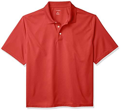 Van Heusen Men's Big and Tall Short Sleeve Air Performance Ottoman Stripe Polo Shirt