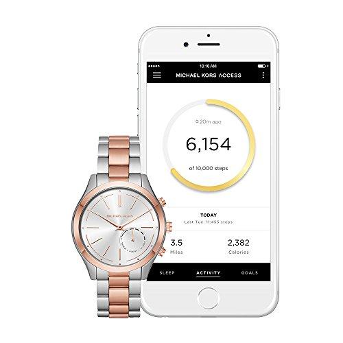 888d151777cd Michael Kors Two-Tone Slim Runway Hybrid Smart Watch - Buy Online in ...