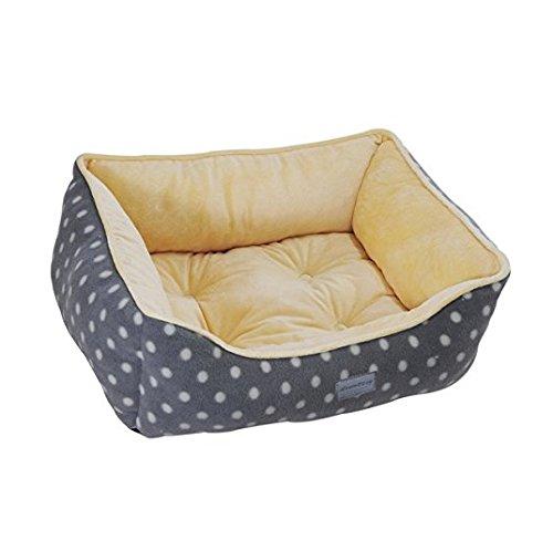 Grey Medium Grey Medium EZ Living Home Polka Dots Couch Bed, Medium, Grey