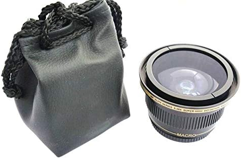 Super Wide Hi Def Fisheye Lens for Nikon D3500 55mm Compatible