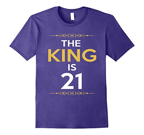 Mens Kings is 21 Years Old -21st Birthday Gift Ideas for him/men Medium Purple
