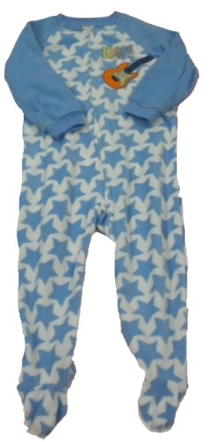 Absorba Little Boys' Blanket Sleeper Size 4 Blue ''Rock & Roll ''