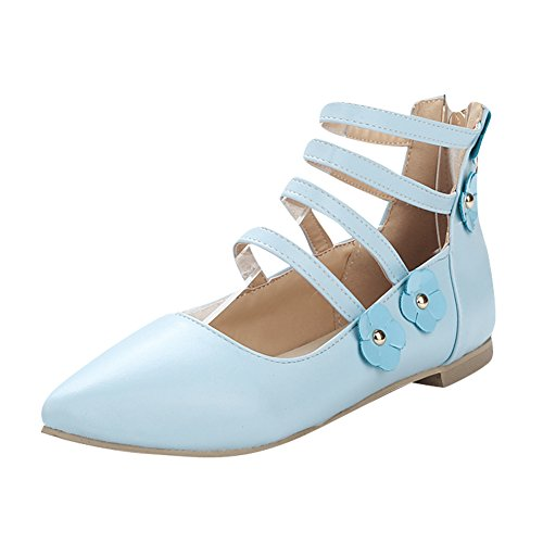 Charm Foot Women's Strappy Pointed Toe Flats Sandals ...