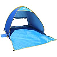 OutdoorsmanLab Automatic Pop Up Beach Tent, Lightweight For Family with UV 50...