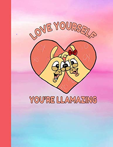 Love Yourself You're Llamazing: Llama Sketchbook | Cute Alpacas Valentines Day Love Heart Drawing Sketch Book for Artists & Illustrators | Scrapbook Notepad & Art Workbook | Learn to Draw ()