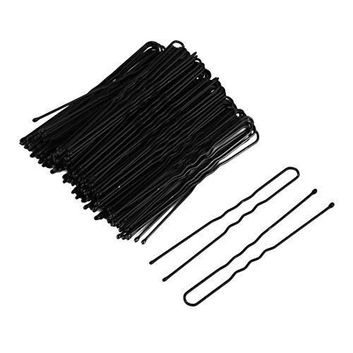 uxcell Metal Woman Hair Pin French Barrette U Shaped Clip Single Prong 100 Pcs Black