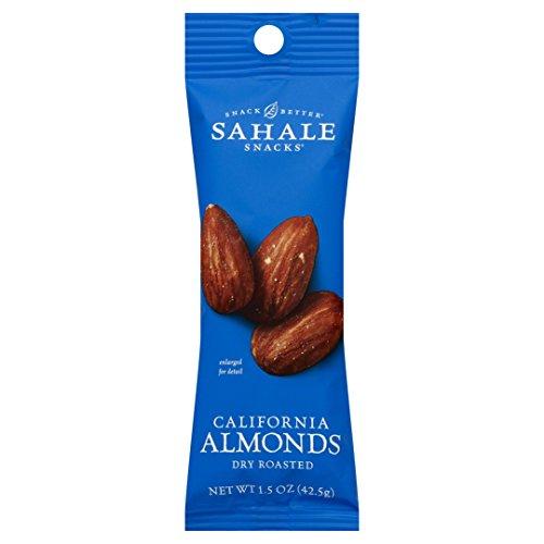 - Sahale Snacks Grab & Go California Dry-Roasted Almonds, 1.5 Ounce, 18 count