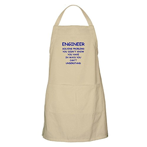 CafePress - ENGINEER Apron - Kitchen Apron with Pockets, Grilling Apron, Baking (Engineer Bbq Funny Apron)