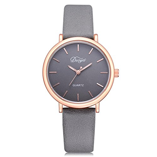 Perman Mens Womens Wrist Watch, Duoya D224 Colorful Analog Pointer Quartz Watch for Lovers