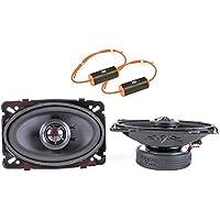 Skar Audio TX46 4x6 Coaxial 140W 2-Way Speakers with 0-1.2Khz Bass Blockers