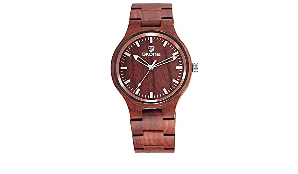 Reloj Madera Zebra De Skone Pulsera Hwcoo Relojes Patrón lJF1cK3T