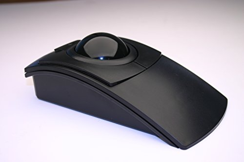 CST1550 USB-PS/2 Wired Ambidextrous Ergonomic Black Trackball - Made in the ()