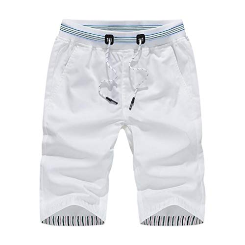iLXHD Mens Shorts Swim Trunks Quick Dry Beach Surfing Running Swimming Water Pants scanties knickers (White,L)