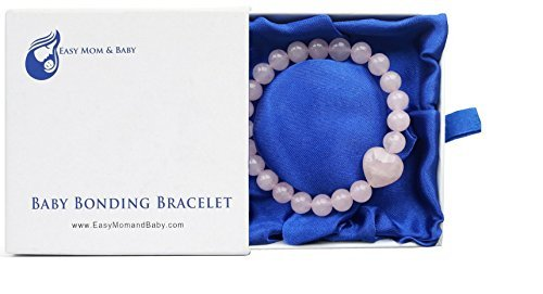 Baby Bonding Bracelet - Award Winning New Mom Gift (8mm beads in presentation box)
