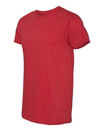 Hanes Herren Asymmetrischer T-Shirt Medium rot - Vintage Red