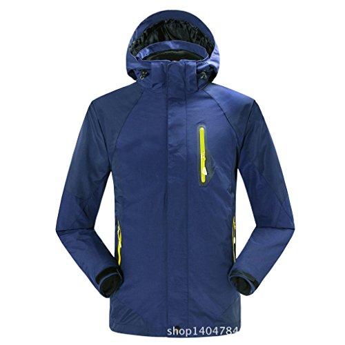 Bavero Navy Giacche Del Blu Zip Dyf M Lunghe Impermeabile Cappotto Maniche Giacca Esterna Fym Uomini wxqqCOI