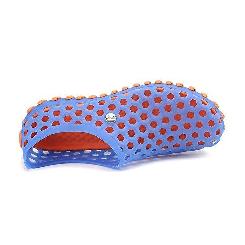 Caminar el de Sandalias Rojo Vamp Cómodos Agua Zapatos Huecos de Antideslizantes Hombres en los al Azul para Aire Zapatos Libre SnwcqgqEa