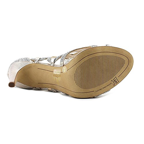 INC International Concepts Womens Raydin2 Open Toe Classic Pumps Pearl Gold pIsZLpgxT