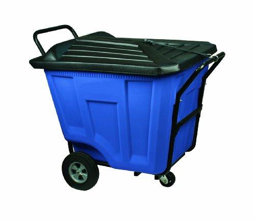 Akro-Mils 76591 30-1/2-Inch W by 47-Inch D by 39-1/2-Inch H 90 Gallon Akro-Cart Heavy Duty Plastic Waste Transport Cart with Lid, (Akro Mils Poly Bins)