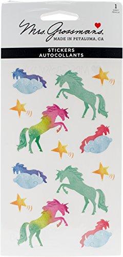 Mrs Grossman Unicorns Watercolor Stickers - Mrs Grossmans Sticker Sheet