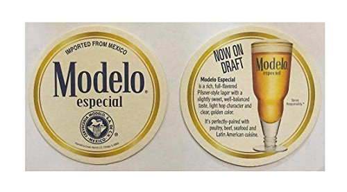 Modelo Especial Now on Draft 20 Beer Bar Pub Round Coasters ()