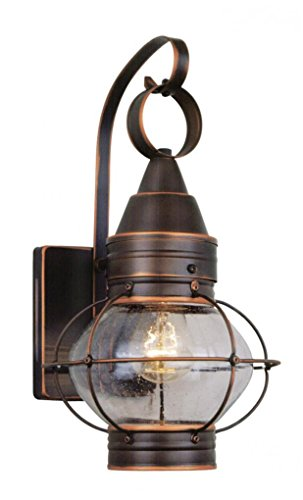 Vaxcel One OW21881BBZ Chatham 8-Inch Outdoor Wall Light, Burnished Bronze, See Image