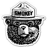 """Automotive : StickyChimp Smokey the Bear Firefighting WILDFIRE sticker 4"""" x 4"""",Black"""