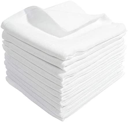 20x White Muslin Squares 100/% Cotton Baby Cloths Nappy Inserts Bibs 80x70 cm
