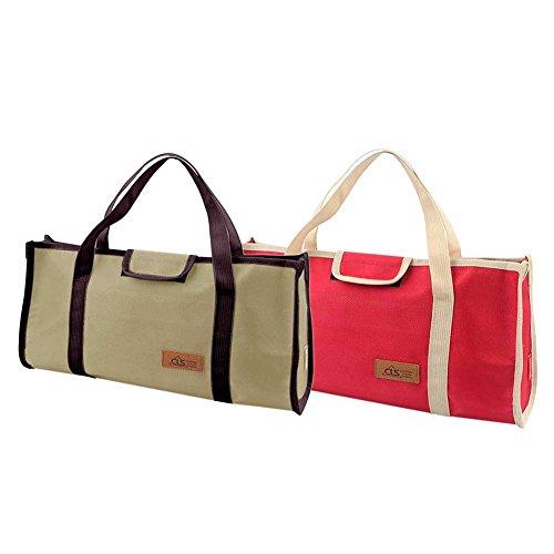 Jannyshop Werkzeugtasche Aufbewahrungstasche Multifunktional Organizer Taschen für Reisen Picknick Kampierende Nägel, Werkzeug von Zelt usw. Khaki