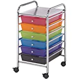 Blue Hills Studio Storage Cart with 6 Drawers, 13 by 26 by 15.5-Inch, Multicolor