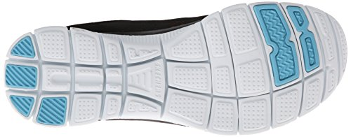 Appeal Skechers First Flex Para bkhp blanco Glance Negro Mujer De Zapatillas Deporte wwB5qr