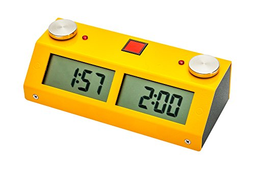 Chronos GX Digital Game Chess Clock - TOUCH - Yellow by US Chess Federation